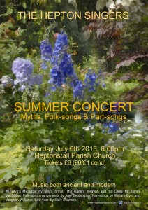 Hepton Singers 6 July 2013