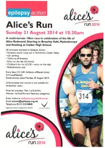 Alices run Flyer - july 14